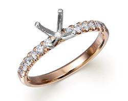 14k rose gold 0.30ct diamond engagement ring DMR01140-2