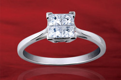 Lady Dream Princess Cut Diamond Ring