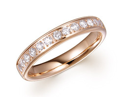 14k rose gold 0.33ct diamond comfort fit premium wedding band DDR01149-2