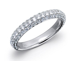 18k white gold 1.0ct micro-pave set diamond ring DDR00173-7