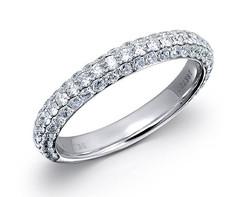 18k white gold 1.0ct micro-pave set diamond ring DDR00173-7