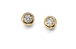 Y18K Brilliant Cut Diamond Studs