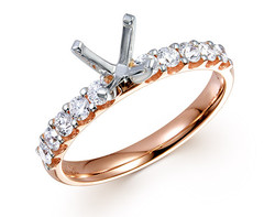 18k rose gold 0.46ct prong set comfort fit engagement ring DMR01262-6
