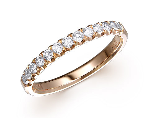 18k rose gold 0.33ct diamond edge premium wedding band DDR01140-6