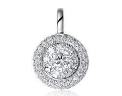 18k white gold 1.0ct outlook Lady Dream + 47DD0.24CT diamond pendant