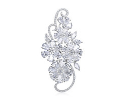18k white gold 8.85ct total weight flower diamond pendant DDP24540-7