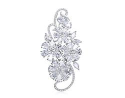 18k white gold 8.85ct total weight flower diamond pendant DDP24540-7