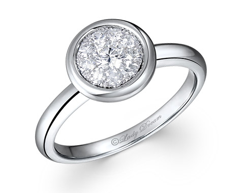 18k white gold 0.85ct outlook Lady Dream diamond ring DDR01250-7