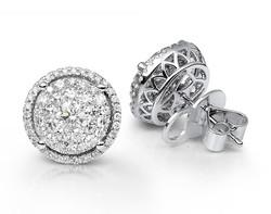 18k white gold 6.00ct OL Lady Dream + 64DD0.24ct diamond earrings