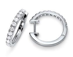 14k white gold 0.50ct micro-prong set huggie earrings DDE01405-3