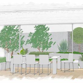 Entertaining area - garden design