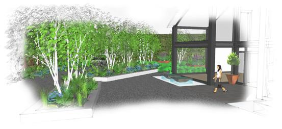 Modern garden design country estate
