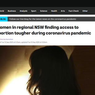 Women in regional NSW finding access to abortion tougher during coronavirus pandemic