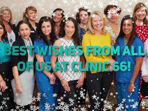 "Best Wishes & ""Cringe-worthy"" Cracker Jokes from the Clinic 66 Team"