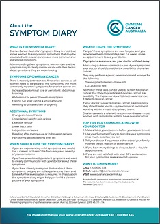 Download the Ovarian Cancer Symptom Diary | Clinic 66