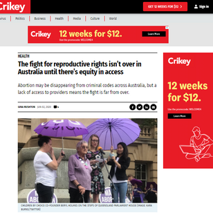 The fight for reproductive rights isn't over in Australia until there's equity in access