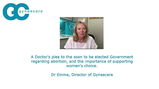 "It is time for Abortion law to change in Australia. Abortion should be a woman's choice. This video is a Doctor's plea to the federal government (pre-election) to ""do the right thing""."
