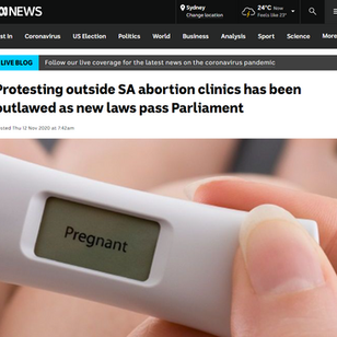 Protesting outside SA abortion clinics has been outlawed as new laws pass Parliament