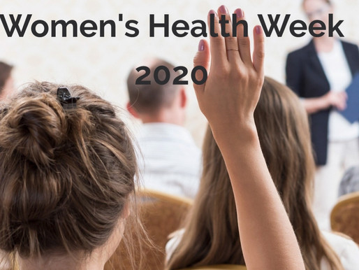 Women's Health Week: 7 -11 Sept 2020