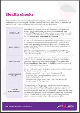 Life stage Health Checks Fact Sheet JH.P