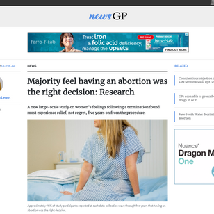 Majority feel having an abortion was the right decision: Research