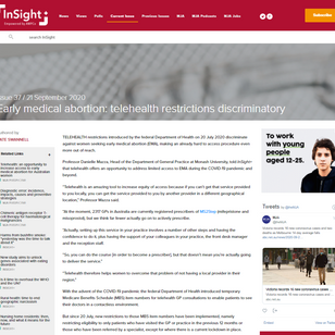 Early medical abortion: telehealth restrictions discriminatory