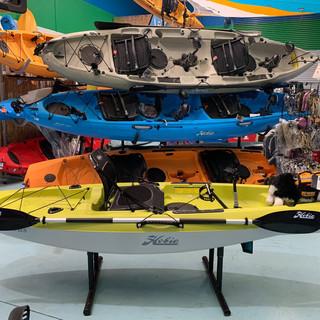 Huge Hobie kayak range at Australian Bas
