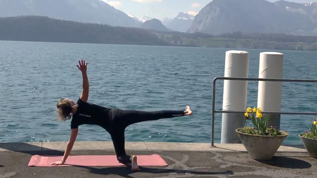 Yoga nach dem Joggen