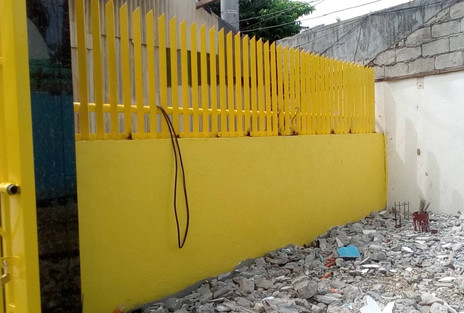 Newly Constructed Main Gate Fence