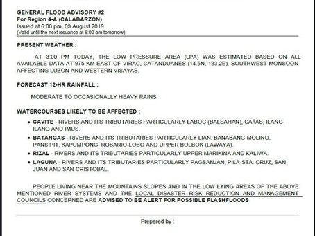 General Flooding Advisory