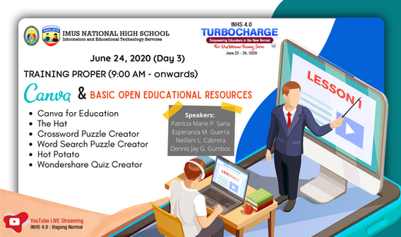 Day 3 :  CANVA for Education and Basic Open Educational Resources