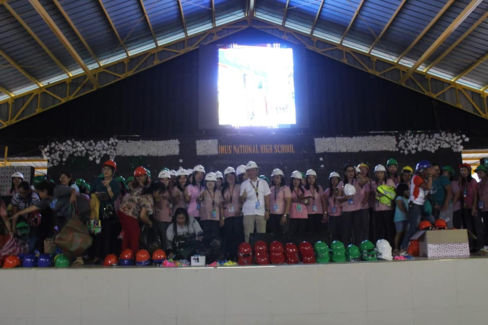 Turn-Over of Donated Whistles, Flashlights and Helmets