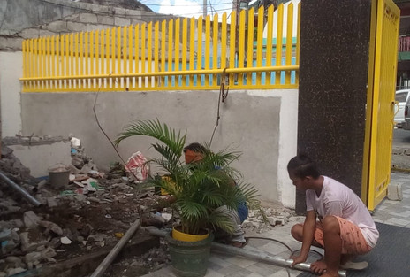 Construction of Main Gate Fence