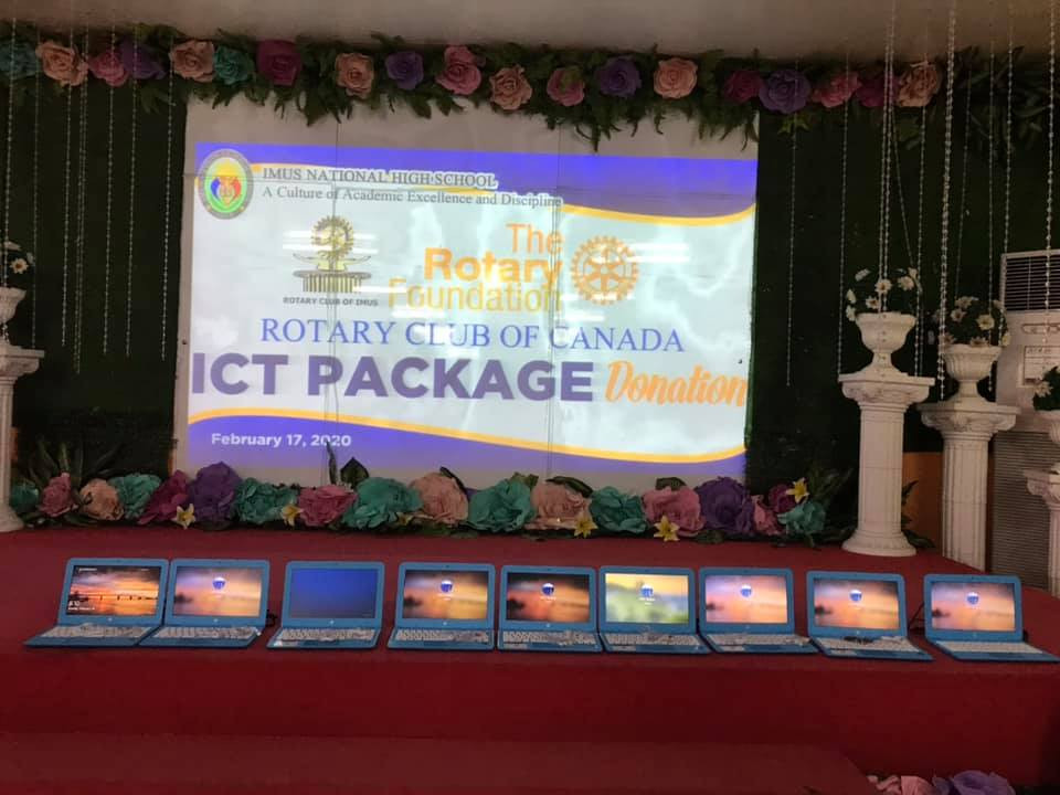 Rotarcy Club Canada ICT Package Donation