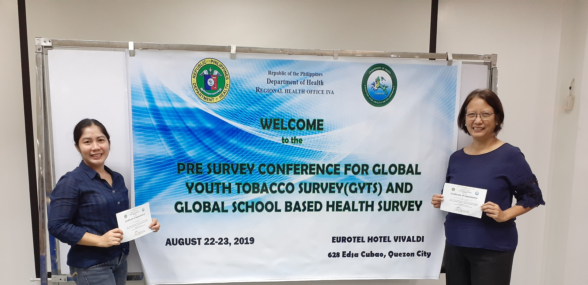 Pre-Survey Conference on Globsl Youth Tobacco Survey (GYTS) and Global School -Based Health Survey ( GSHS)