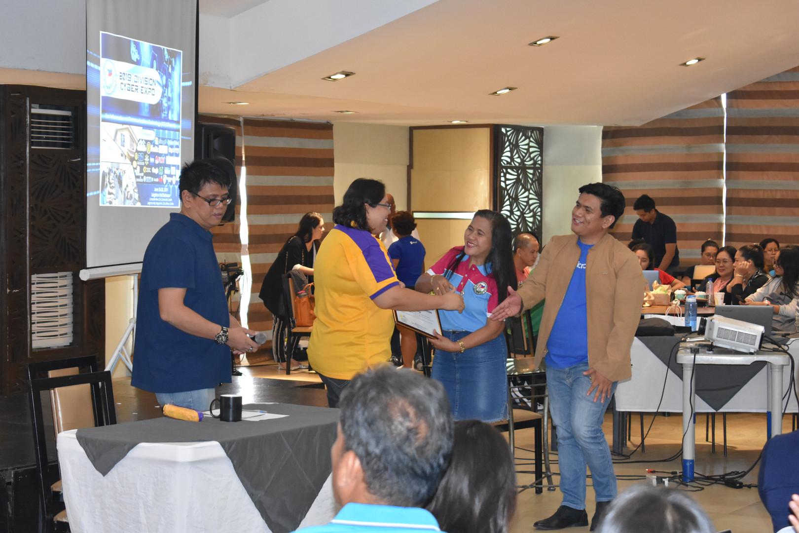 Ms. Marissa Tagado, Business Head of Region IV – A of City Savings Bank and SDO Officials