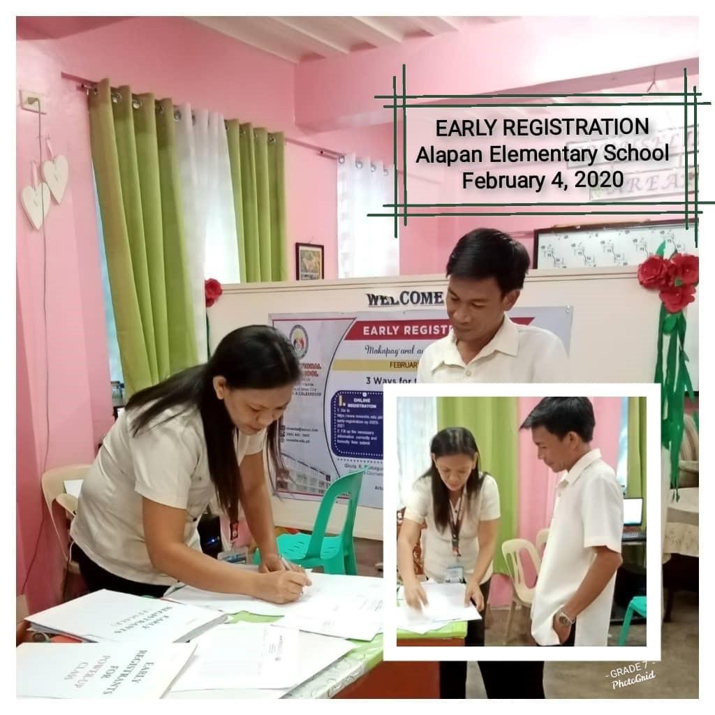 Early Registration School to School