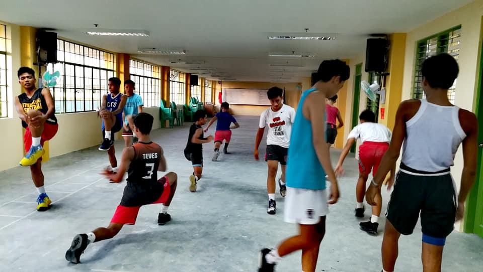 INHS Varsity Playes utilizing Gym at 4th Flr. GAD Building