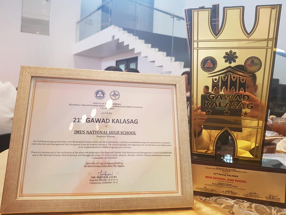 INHS 21st Gawad Kalasag Regional Winner