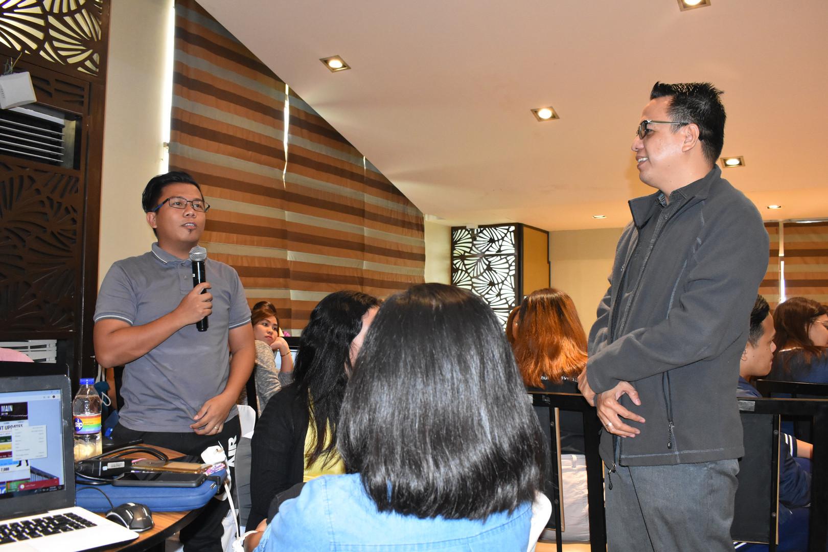 NEO LMS Sales Director Leandro Anonuevo and James Jaime