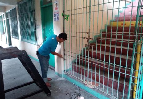 Repairing of Gate of Saquilayan Building