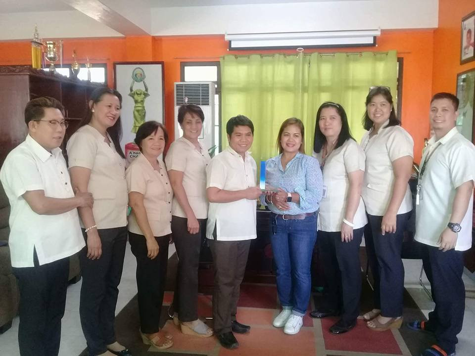Awarding of Plaque as National Finalist