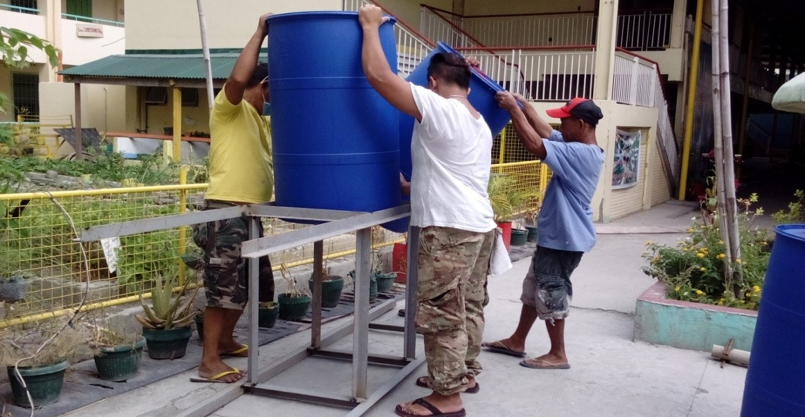 Installation of Water Harvester