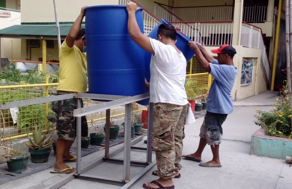 Installation of Water Harvester