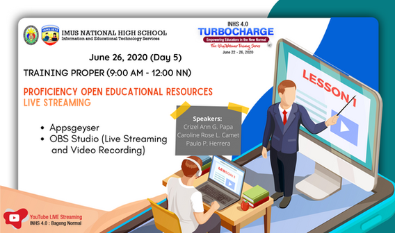 Day 5: Proficiency Open Educational Resources and Live Streaming