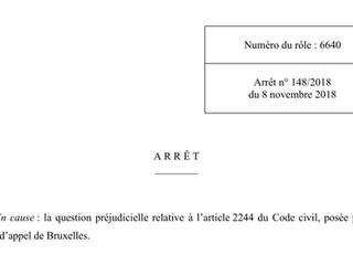 La Cour constitutionnelle se prononce sur la question de l'interruption de la prescription par u