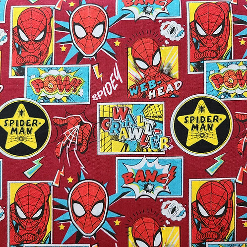 Spider-man Childrens Mask 100% Cotton, Includes 1 HEPA Filter