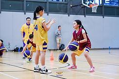 Girls playing basketball in Bangkok with Top Flight