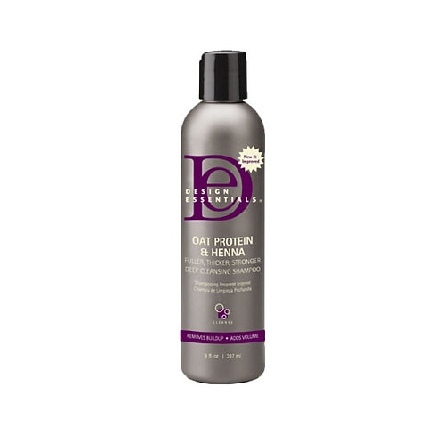 Design Essentials - Oat Protein & Deep Cleansing Shampoo 8 oz
