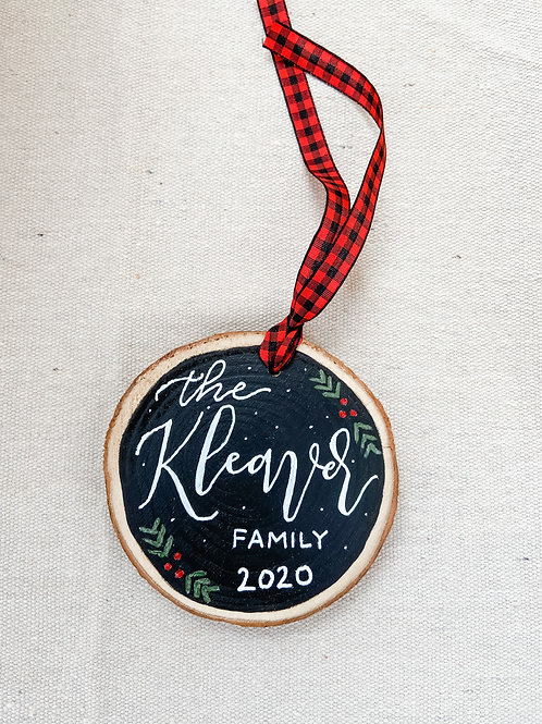 Personalized Ornament - Family Name